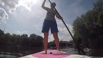 So fährt sich ein aufblasbares Stand-Up-Paddle-Brett