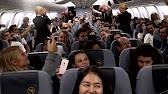 Flashmob an Bord von Condor