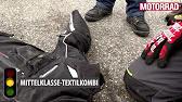 Motorrad: Lederkombis gegen Textilkombis im Crashtest