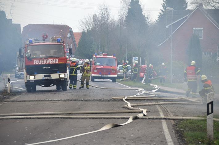 Reetdachhaus abgebrannt – 250.000 Euro Sachschaden