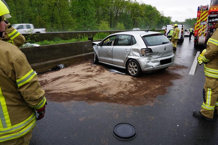 A52: Verkehrsunfall Eingeklemmte Person