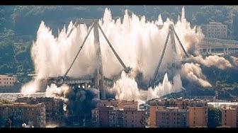 ITALIEN: Reste der Unglücksbrücke von Genua gesprengt