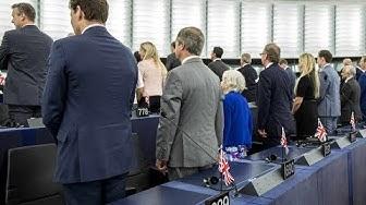 PROTEST IM EU-PLENARSAAL: Brexit-Partei sorgt mit frecher Geste für Eklat