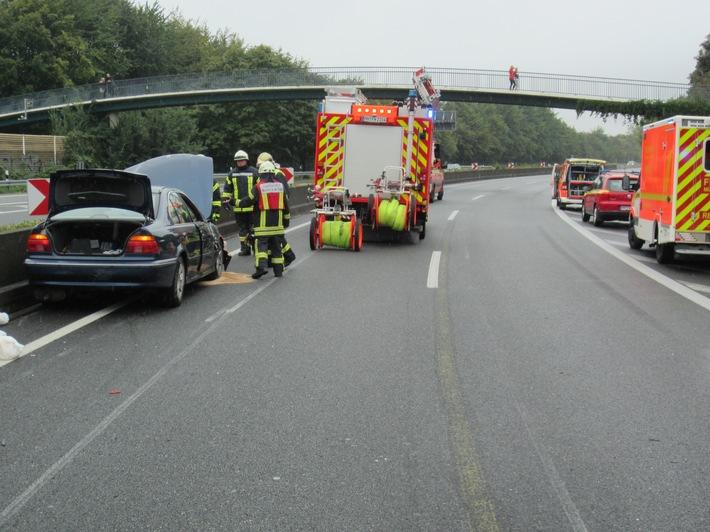 A40: Zwei Verkehrsunfälle am Sonntagmittag mit verletzten Personen