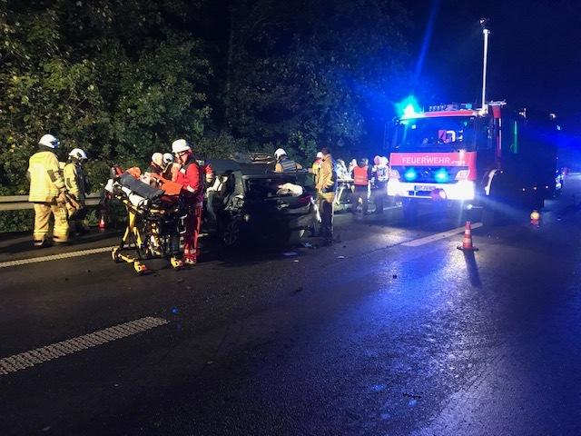 A31: 8 Verletzte nach Verkehrsunfall