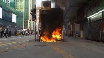 GEWALT UND PROTESTE: Demos in Hongkong endeten erneut in Gewalt