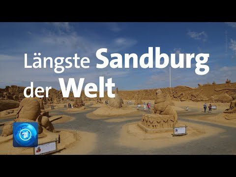 Die längste Sandskulptur der Welt