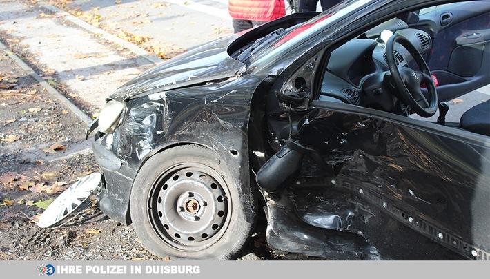 Unfall beim Überholmanöver  mit einer Verletzten