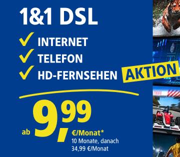 AKTION: Highspeed Internet jetzt incl. 1&1 HD-Fernsehen