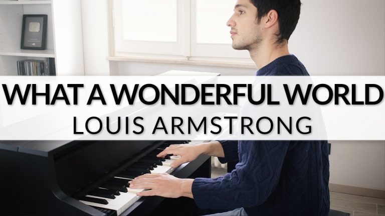 """Louis Armstrong """"What A Wonderful World"""" als Piano Version"""