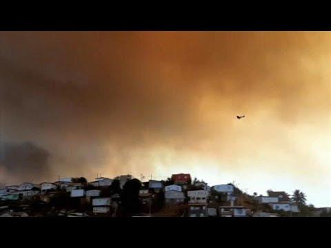 Chile: Mindestens 120 Häuser bei schweren Waldbränden beschädigt