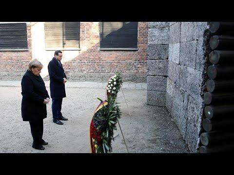 Angela Merkel besucht KZ-Gedenkstätte Auschwitz