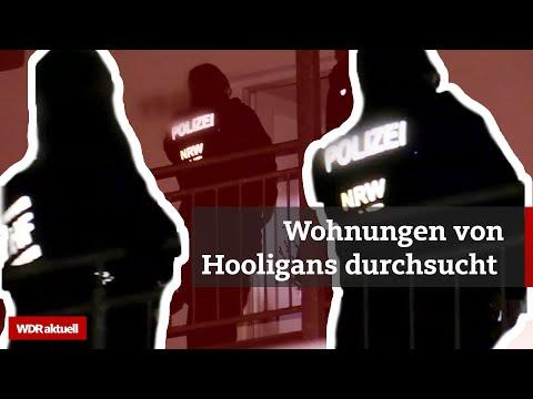 Nach Massenschlägerei: Razzia gegen Fußball-Hooligans in NRW