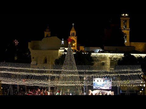 Zauberhafter Lichterglanz: Weihnachtsbaum in Bethlehem