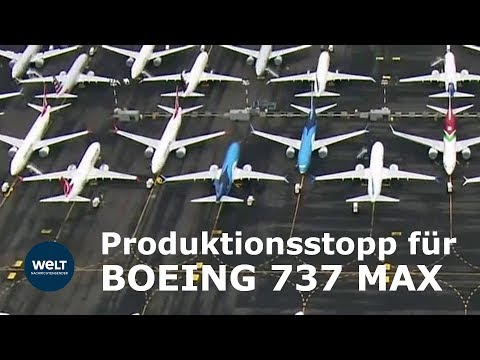 BOEING 737 Max Produktion wird eingestellt