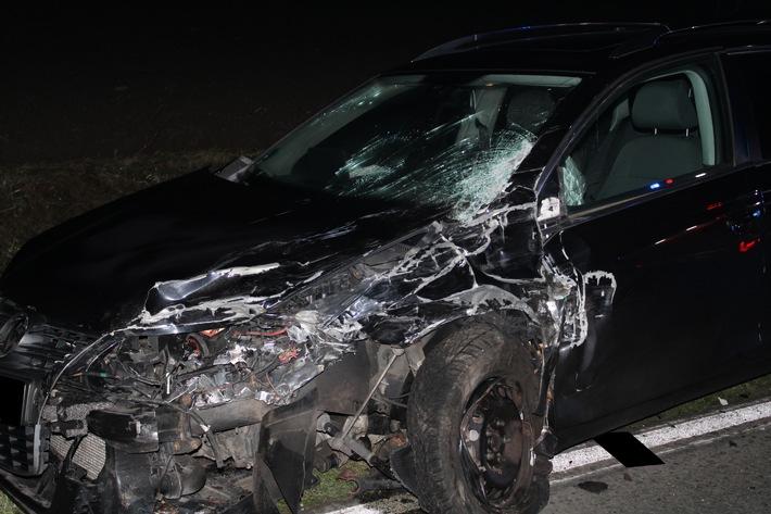 Vier Verletzte nach PKW-Unfall schwer verletzt