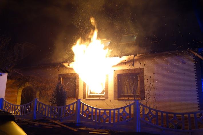 Bremerhaven: Brand in einem Einfamilienhauses