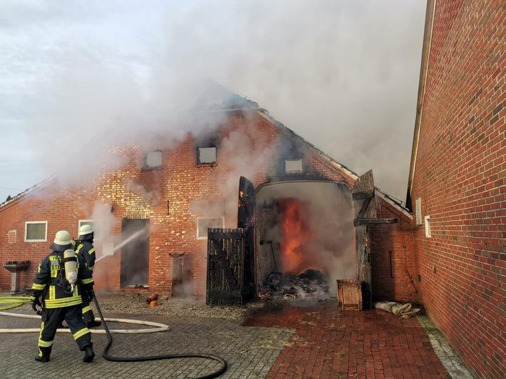 Steenfelde: Wohngebäude durch Feuer nahezu zerstört