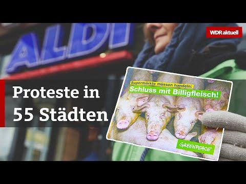 Greenpeace: Proteste gegen Billigfleisch vor Supermärkte