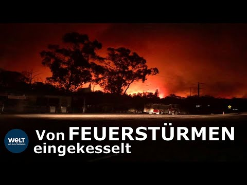 DRAMA IN AUSTRALIEN: Touristen am Strand von Flammen eingeschlossen