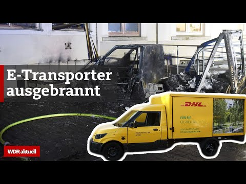 Herne: E-Auto der Post ausgebrannt