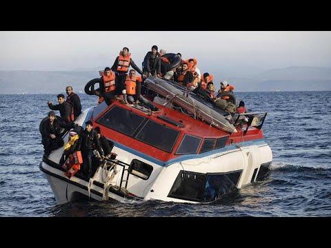 Mindestens 12 Tote bei Untergang eines Flüchtlingsbootes im Mittelmeer