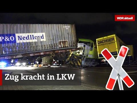 Lastwagen-Unfall: Güterzug rammt Lkw im Dortmunder Hafen