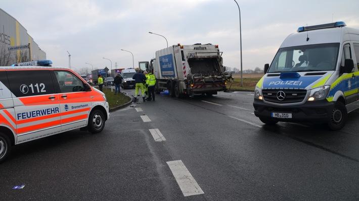 Bremerhaven: Folgenschwerer Verkehrsunfall mit einem Toten