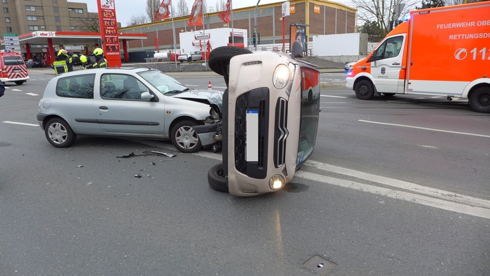 NRW: Verkehrsunfall mit zwei verletzten Personen