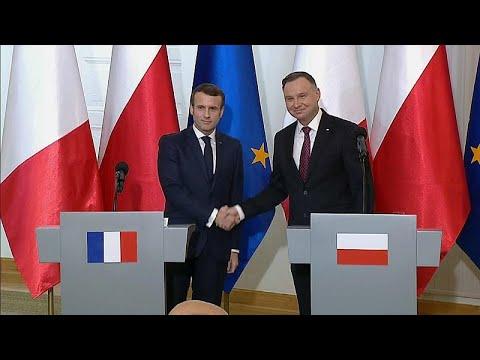 Macron in Polen: Verbindliches und Forderungen