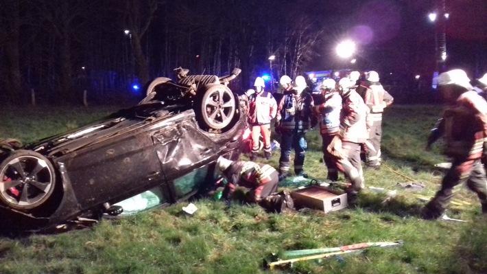 Norderstedt: Verkehrsunfall mit lebensgefährlich verletzter Person