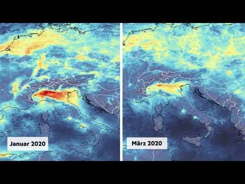 Drastische Auswirkung des Coronavirus: Luftverschmutzung über Italien geht zurück