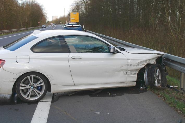 L770: 23-jähriger Golf-Fahrer touchiert BMW nach Überholmanöver