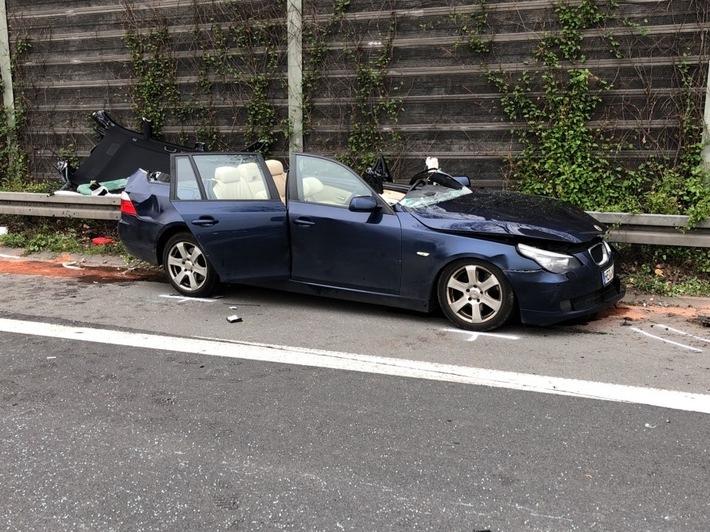 A42: BMW fährt gegen Lkw