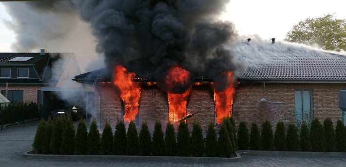 Holtsee: Hausbewohner bei Brand schwer verletzt