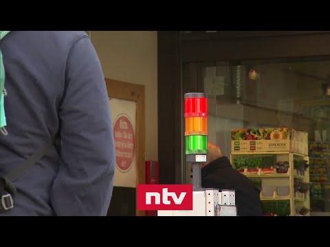 Supermarkt regelt Einlass per Ampel