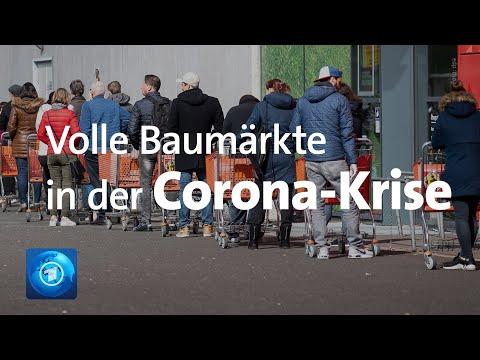 Volle Baumärkte in der Corona-Krise