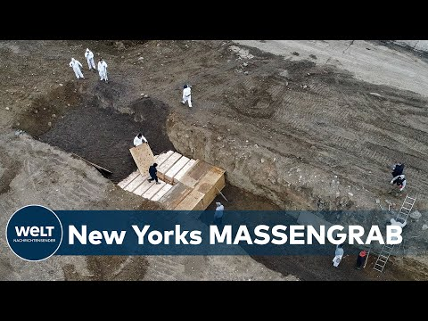 CORONA-EPIDEMIE: Drohnenaufnahmen zeigen Massengräber auf Insel vor New York