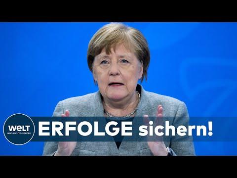 """CORONA-BESCHRÄNKUNGEN: Kanzlerin Merkel will """"zerbrechlichen Zwischenerfolg"""" sichern"""