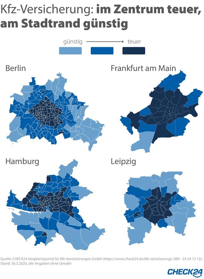 Kfz-Versicherung: Gleiche Stadt, andere PLZ – Beitrag variiert um bis zu 21 Prozent