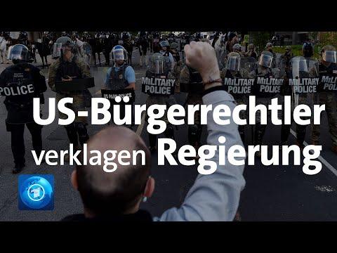 Einsatz vor dem Weißen Haus: US-Bürgerrechtler verklagen die Regierung