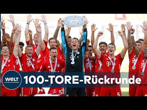 FUßBALL-BUNDESLIGA: FC Bayern München holt sich seine Schale ab