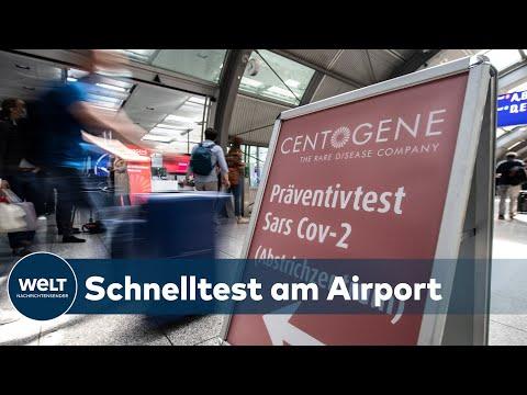 ERST TESTEN, DANN FLIEGEN: Neues Corona-Zentrum am Frankfurter Airport öffnet