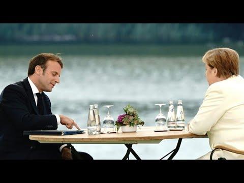 Vor EU-Ratspräsidentschaft: Merkel empfängt Macron in Schloss Meseberg