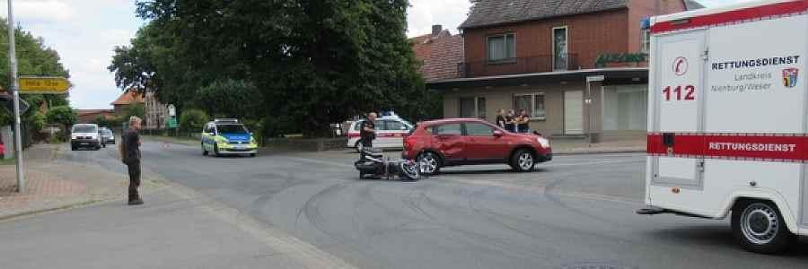 Bohnhorst: Motorradfahrer bein Unfall schwer verletzt