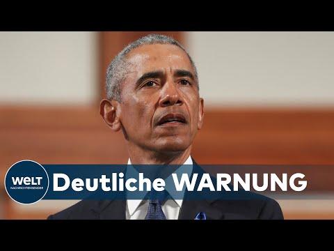 WARNUNG VOR WAHLMANIPULATION: Obama kritisiert Trump bei Rede scharf