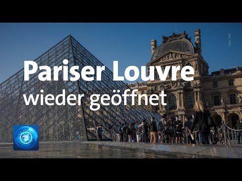 Paris: Museum Louvre öffnet mit neuem Hygienekonzept