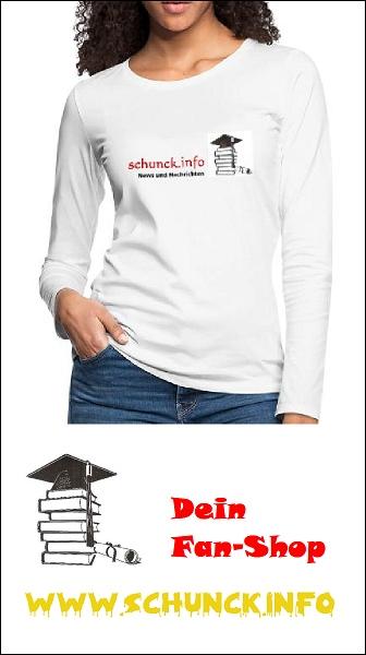 Fan-Shop: Langarm Shirt weiß mit Motiv