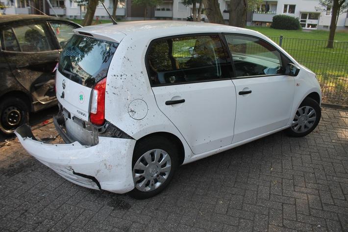 Duisburg: Nach PKW-Diebstahl – Unfallflucht ohne Fahrerlaubnis