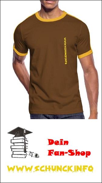 Fan-Shop: Retro T-Shirt braun mit Schrift